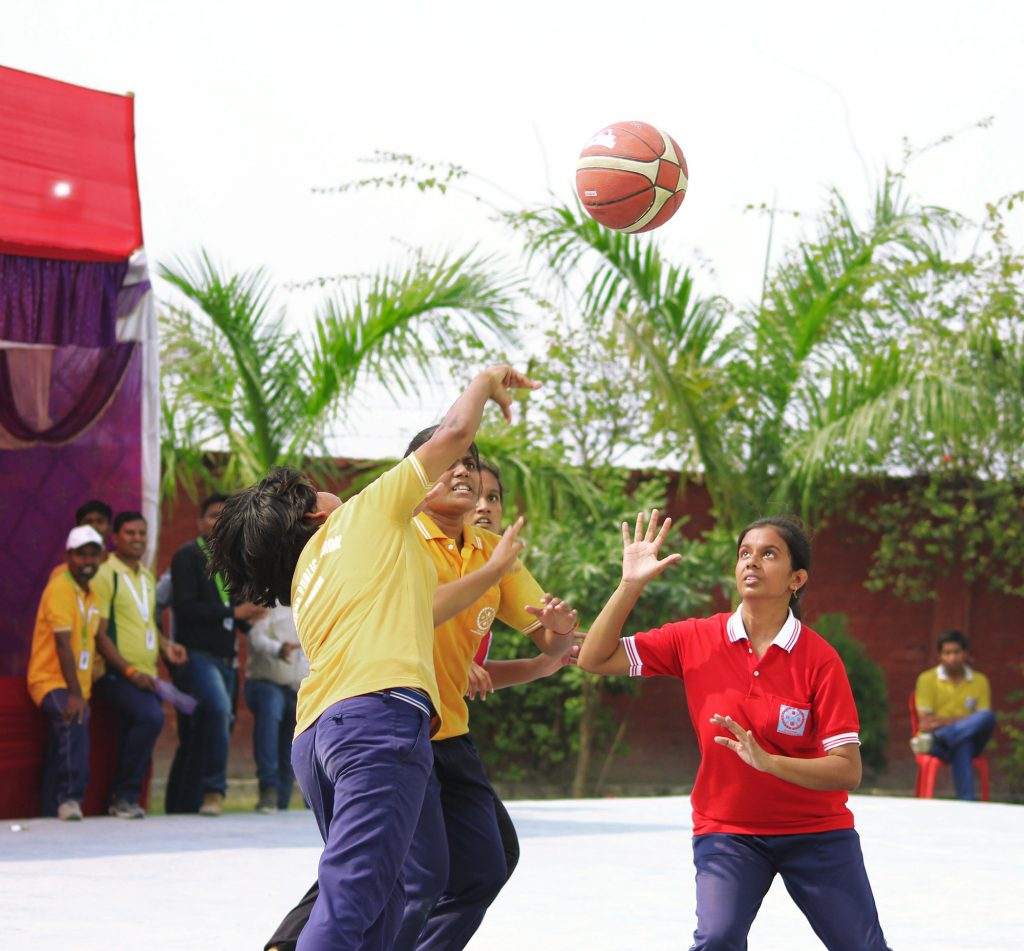 Levana students playing basketball
