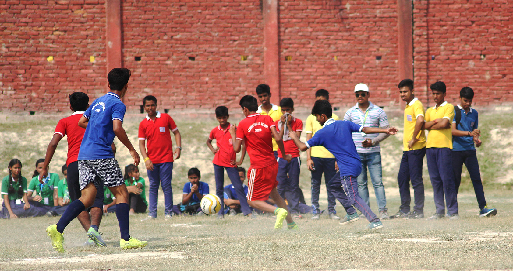 Levana students playing football